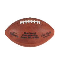 Super Bowl I (One 1) Official Leather Authentic Game Football by Wilson