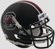 South Carolina Gamecocks Alternate Matte Black Schutt Mini Authentic Helmet