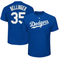 Cody Bellinger Los Angeles Dodgers Majestic Official Name & Number Men's T-Shirt - Royal