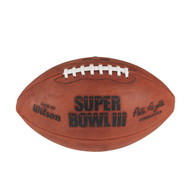 Super Bowl III (Three 3) Official Leather Authentic Game Football by Wilson