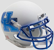 Kentucky Wildcats Alternate White Chrome Schutt Authentic Mini Helmet