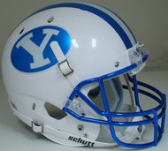 Brigham Young BYU Cougars Alternate Chrome Schutt Full Size Replica Helmet
