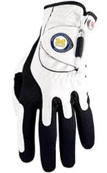 Zero Friction NCAA Michigan Wolverines White Golf Glove, Left Hand