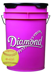 Diamond 18 Softballs Bucket Combo with 10-inch Softballs (includes 18 DRC-10RFPSC Softballs)
