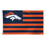 Denver Broncos NFL American Flag 3 foot by 5 Foot