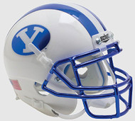 BYU Brigham Young Cougars Alternate Chrome Schutt Mini Authentic Helmet