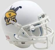 West Virginia Mountaineers Matte White 125 Years of WVU Football Mini Helmet