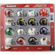 2017 NCAA BIG 10 Pocket Pro Speed Revolution Mini Helmets Set by Riddell