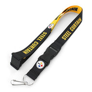 NFL Pittsburgh Steelers Slogan Lanyard Fan Keychain