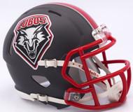 New Mexico Lobos Matte Gray Revolution SPEED Mini Helmet
