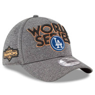 Los Angeles Dodgers New Era 2017 World Series Locker Room 39THIRTY Flex Hat - Heather Gray, Men's