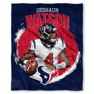 "NFL Deshaun Watson Houston Texans Silk Touch Throw Blanket Size 50"" x 60"""