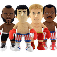 "Rocky Balboa Apollo Creed Clubber Lang Ivan Drago 10"" Plush Figure Toy Figures 4-Set Bundle"