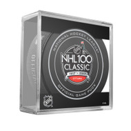 2017 NHL 100 Classic Canadiens at Senators Official Game Puck With Cube