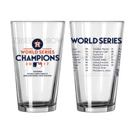 Houston Astros 2017 World Series Champions Official 16 oz. Roster Pint Glass