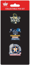 Houston Astros 2017 World Series Champions Official Lapel Pin Set