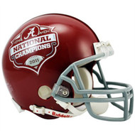 Alabama Crimson Tide 2011 National Champions Replica Mini Helmet w/ Z2B Mask