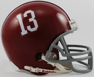 Alabama Crimson Tide #13 Riddell Mini Helmet with Z2B Mask