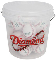 Diamond 18 Tee Ball Baseballs and Bucket Combo (includes 18 DFX-LC1 OL Flexiballs)