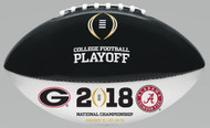 2018 COLLEGE FOOTBALL PLAYOFF OFFICIAL SIZE AUTOGRAPH DUELING FOOTBALL