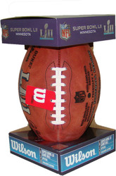 NFL Super Bowl 52 Authentic Official Game Football (Boxed) with Eagles & Patriots Names Inscribed on Ball