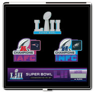 Super Bowl LII (52) Patriots vs. Eagles Dueling Pin Set - Limited to only 5,000 made