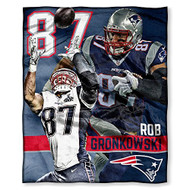 "NFL New England Patriots Rob Gronkowski Silk Touch Throw, 50"" x 60"""