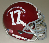 Alabama Crimson Tide Special 2017 FBS NCAA National Champions Schutt Authentic Mini Helmet