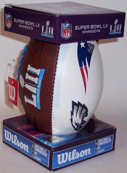 Super Bowl LII (52) Official White Panel Dueling Autograph Mini Football by Wilson (Boxed)