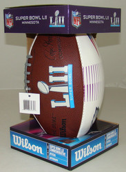 NFL Wilson Official Super Bowl LII (52) Commemorative All-White Dueling Football