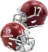 Riddell Alabama Crimson Tide College Football Playoff 2017 National Champions Revolution Speed Mini Football Helmet