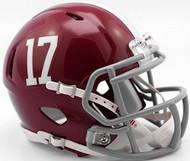 Alabama Crimson Tide #17 NCAA Riddell Speed Mini Helmet