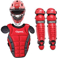 Diamond iX5 Youth Baseball Catcher's Gear Package - Scarlet