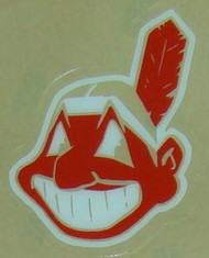 CLEVELAND INDIANS CHIEF WAHOO MINI HELMET 3M STICKER DECAL