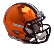 Cleveland Browns Riddell Speed Mini Helmet - Chrome Alternate