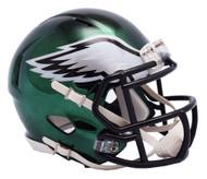 Philadelphia Eagles Riddell Speed Mini Helmet - Chrome Alternate