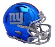 New York Giants Riddell Speed Mini Helmet - Chrome Alternate