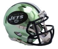 New York Jets Riddell Speed Mini Helmet - Chrome Alternate