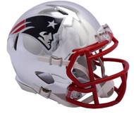 New England Patriots Riddell Speed Mini Helmet - Chrome Alternate