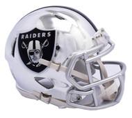Oakland Raiders Riddell Speed Mini Helmet - Chrome Alternate