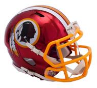 Washington Redskins Riddell Speed Mini Helmet - Chrome Alternate