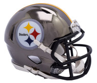 Pittsburgh Steelers Riddell Speed Mini Helmet - Chrome Alternate