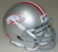 Arkansas Razorbacks Alternate Gray Schutt Mini Authentic Helmet