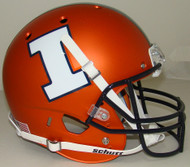 Illinois Fighting Illini Schutt Alternate Matte Orange Full Size Replica Helmet