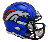 Denver Broncos Speed Riddell Replica Full Size Helmet - Chrome Alternate