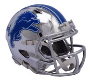 Detroit Lions Speed Riddell Replica Full Size Helmet - Chrome Alternate