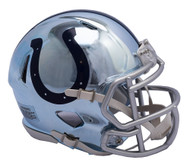 Indianapolis Colts Speed Riddell Replica Full Size Helmet - Chrome Alternate