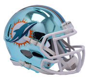 Miami Dolphins Speed Riddell Replica Full Size Helmet - Chrome Alternate