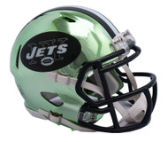 New York Jets Speed Riddell Replica Full Size Helmet - Chrome Alternate