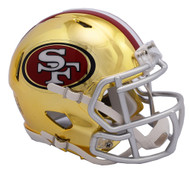 San Francisco 49ers Speed Riddell Replica Full Size Helmet - Chrome Alternate
